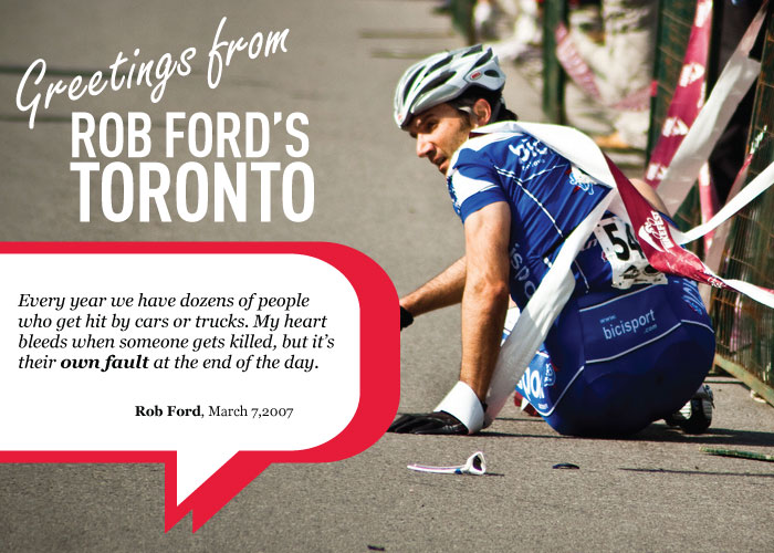 A Smitherman Campaign Ad painting Ford as an opponent of cycling